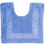 Super Soft Reversible Cornflower Pedestal Mat Cornflower (Blue)