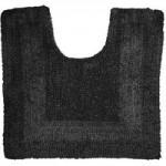 Super Soft Reversible Black Pedestal Mat Black