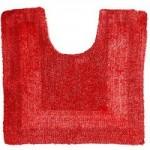 Super Soft Reversible Red Pedestal Mat Red