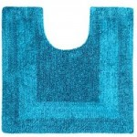 Super Soft Reversible Teal Pedestal Mat Teal (Blue)