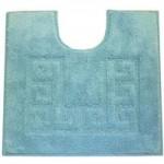 Luxury Cotton Non-Slip Lagoon Pedestal Mat Lagoon (Blue)