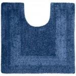 Super Soft Reversible Indigo Pedestal Mat Indigo (Blue)