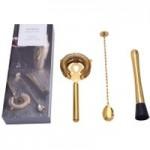 3 Piece Gold Barware Set Gold