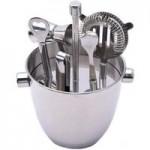 6 Piece Silver Barware Set Silver