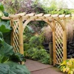 Forest Large Ultima Pergola Arch Natural