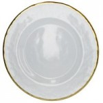Gold Rim Glass Charger Plate Clear