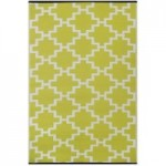 Solitude Celery Green and White Rug Lime (Green)