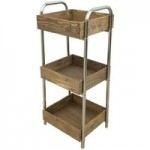 3 Tier Wooden Caddy Natural