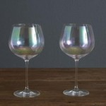 Set of 2 Lustre Gin Glasses Clear