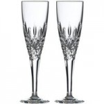Set of 2 Highclere Flute Glasses Clear