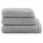 Ribbed Silver Towel Silver