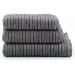 Ribbed Charcoal Towel Grey