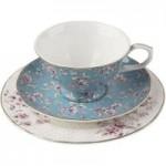Katie Alice Ditsy Floral Teal Afternoon Tea Set Teal