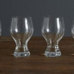 Set of 4 Chunky Clear Glasses Clear