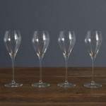 Set of 4 Prosecco Flute Glasses Clear