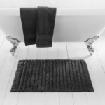 Ribbed Charcoal Bath Mat Charcoal