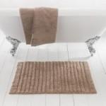 Ribbed Pebble Bath Mat Pebble (Grey)