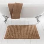 Ribbed Walnut Bath Mat Walnut (Brown)