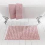 Ribbed Blush Bath Mat Blush (Pink)
