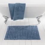 Ribbed Denim Bath Mat Denim (Blue)