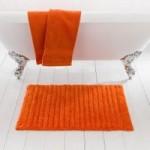 Ribbed Burnt Orange Bath Mat Burnt Orange