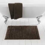 Ribbed Chestnut Bath Mat Chestnut (Brown)