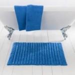 Ribbed Cornflower Bath Mat Cornflower (Blue)