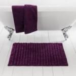 Ribbed Grape Bath Mat Grape (Purple)