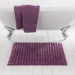 Ribbed Lavender Bath Mat Lavender