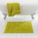 Ribbed Lime Bath Mat Lime (Green)