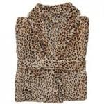Leopard Print Robe Brown